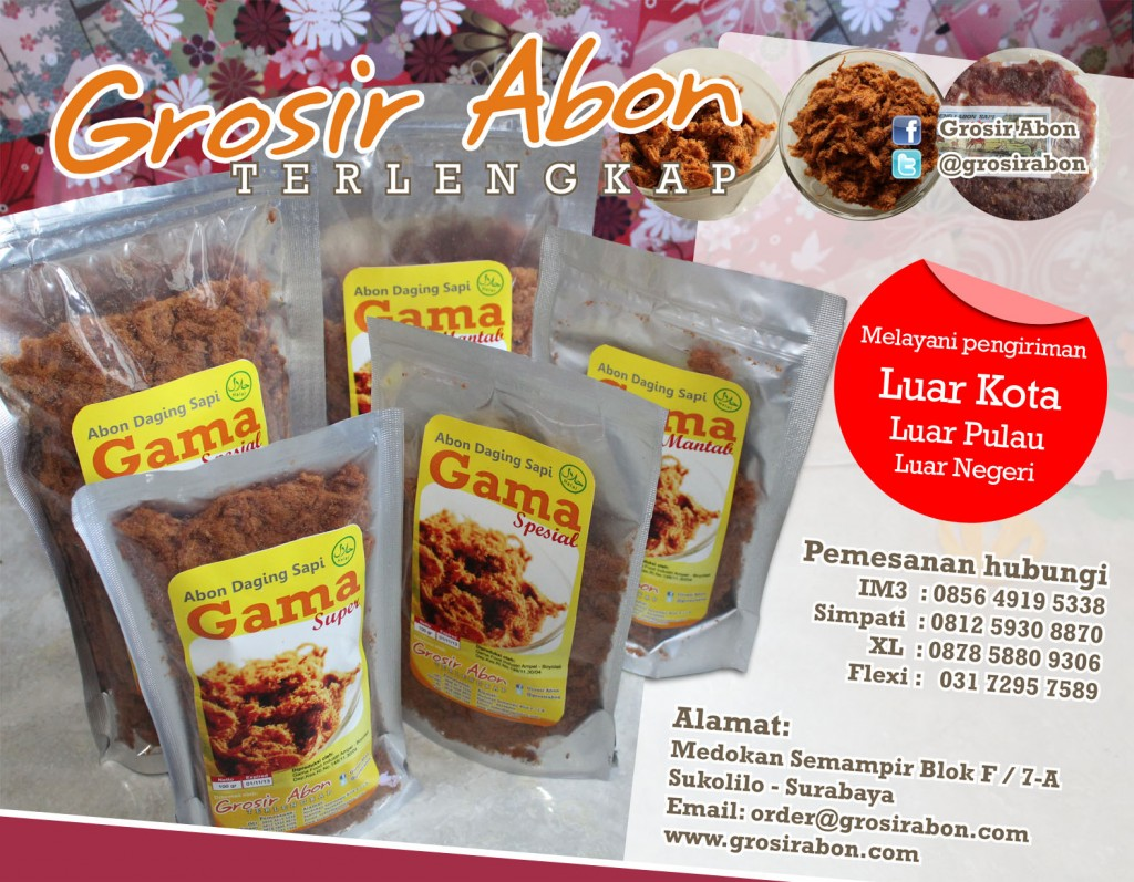 GrosirAbon.com | Pusat abon sapi terlengkap dari Surabaya.